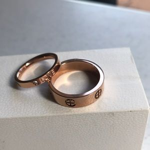 Set of 2 Eve Fashion Rings Sizes 9 1/2, 6 3/4